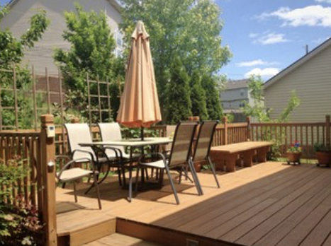 PVC decking with patio furniture in Monroe LA